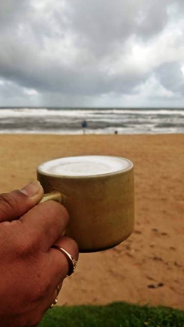 Coffee at the  Goa Beach
