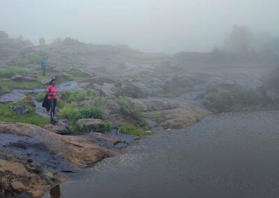Misty lakes in Monsoon in Karnataka